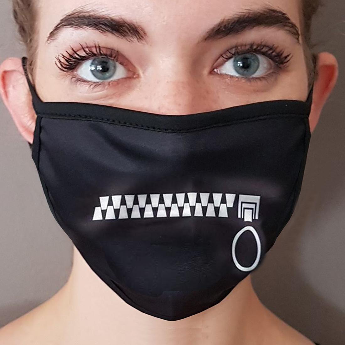 Reissverschluss Maske Schwarz Waschbar Lustige Behelfsmaske Ctzip Ebay